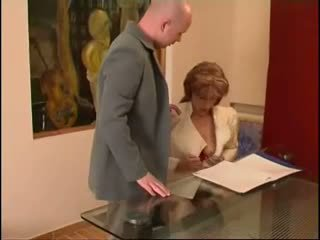 Russian MILF Fucked in Office, Free Lingerie Porn Video fa