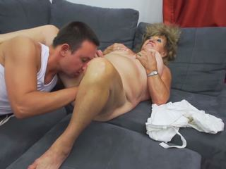 Old but Hot Granny Fucked by Young Boy, Porn ee