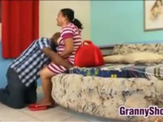 Fat Latin Granny Still Loves A Good Pound