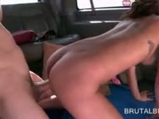 Horny Teen Beauty Banged In Her Fuck Hole In The Sex Bus