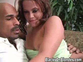 Savannah Stern bounces on a black cock