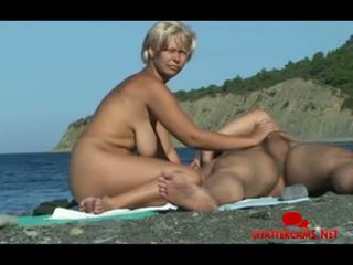Nudist Beach Blowjob