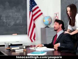 InnocentHigh - School Girl Desperate For Teacher s Cock