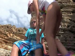Hot tourists outdoors anal sex
