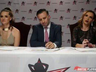 Dp Star 3 - Brunette Pornstar Morgan Lee Deep Throat Blowjob Video
