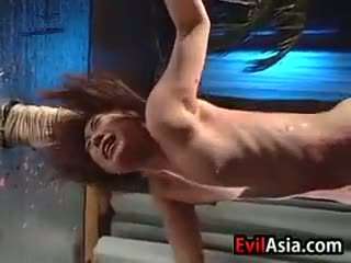 Asian Slut Gets Hot Wax On Her