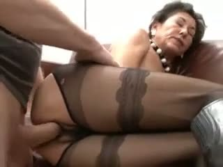 Hairy Mature In Sexy Pantyhose F...